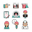 Medical diagnostics icons set — Stock Vector