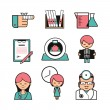 Stock Vector: Medical diagnostics icons set