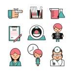 Medical diagnostics icons set — Stock Vector #31219079