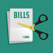 Cut bills — Stock Vector