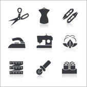 Icons set Sewing — Stock Vector