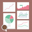 Business chart illustration set — Stock Vector