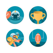 Conjunto de ícones do futebol americano. parte 3 — Vetor de Stock