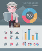 Insurance infographics elements — Stock Vector