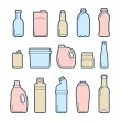 Stock Vector: Beverage container icons