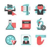Content management flat icons set. Part 2 — Stock Vector