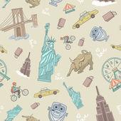 New York seamless pattern — Stock Vector