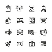 16 content marketing icons — Stock Vector