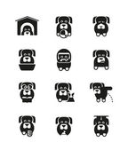 Dog icons — Stock Vector