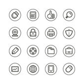Web technology and media icons — Vetorial Stock