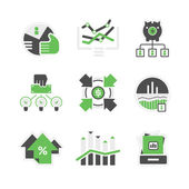 Business analysis icons — Stock Vector