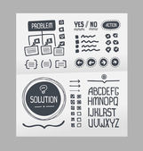Action Plan - Hand Drawn Elements Template — Stock Vector