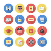 Security - Flat Icons — Stock Vector