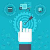 Business Process Management — Stock Vector