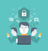 Secure Internet Communication — Stock Vector