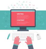 Schreiben eines Artikels — Stockvektor