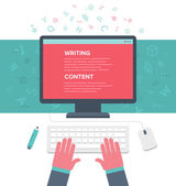 Writing an Article — Stock Vector
