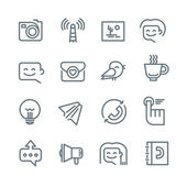 Communication and Networking Icons — Stock Vector