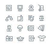 Printing Industry Icons — Stock Vector