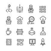 Web Development and Seo Icons — Stock Vector