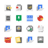 Web Development and Content Technology Icons — Stock Vector