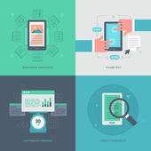 Website Optimization for Mobile — Stock Vector
