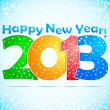 Stock Vector: Happy New Year 2013 Background