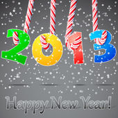 2013 Happy New Year background. — Stok Vektör