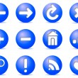 Stock Vector: Communication icons on buttons,