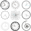 Clock set - Stock Vector