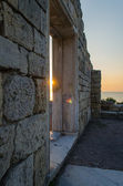Ruins of ancient greek colony Khersones. Sunset, Sevastopol,Crimea — Stockfoto