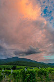 Dark storm clouds over the mountains — Stok fotoğraf