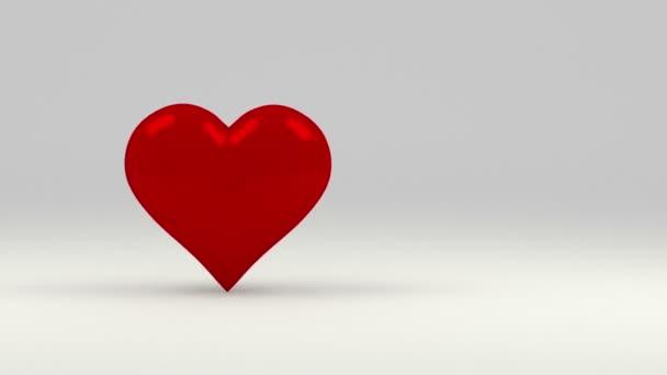 Corazón rojo — Vídeo de stock