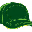 Stock Vector: Green vector baseball cap