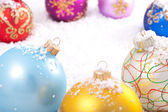 Multicolored Christmas decorations. — Stock Photo