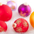 Multicolored Christmas decorations. - Stock Photo
