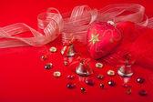 Kerstversiering met edelstenen — Stockfoto