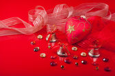 Christmas decorations with precious stones — Stock Photo