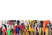 Work tools on white background. — Stock Photo