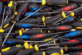 Pile of multicolored screwdrivers. — Stock Photo