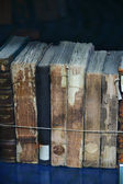 A bunch of old antique books — Stock Photo
