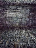 Old wood room background, vintage antique — ストック写真