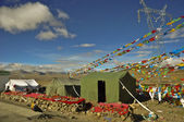 Camp in mount everest base camp — 图库照片