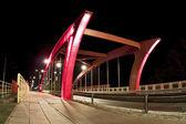 Bridge at Night Bydgoszcz Poland — Stock Photo