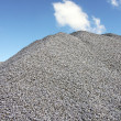 Gray Gravel Hill — Stock Photo
