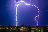 Thunderstorm at Night — Stock Photo