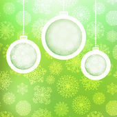 Christmas balls with snowflakes. — Stock Vector
