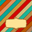 Retro color wooden frame with frame concept. + EPS8 — Stock vektor
