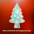 Royalty-Free Stock Imagem Vetorial: Christmas card with tree.  + EPS8