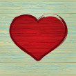 Drawing love symbol on old wooden.  + EPS8 - 